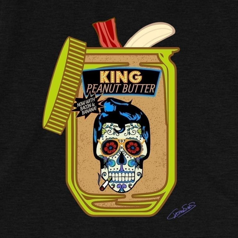 King Peanut Butter • Women's Casual V-Neck T-Shirt