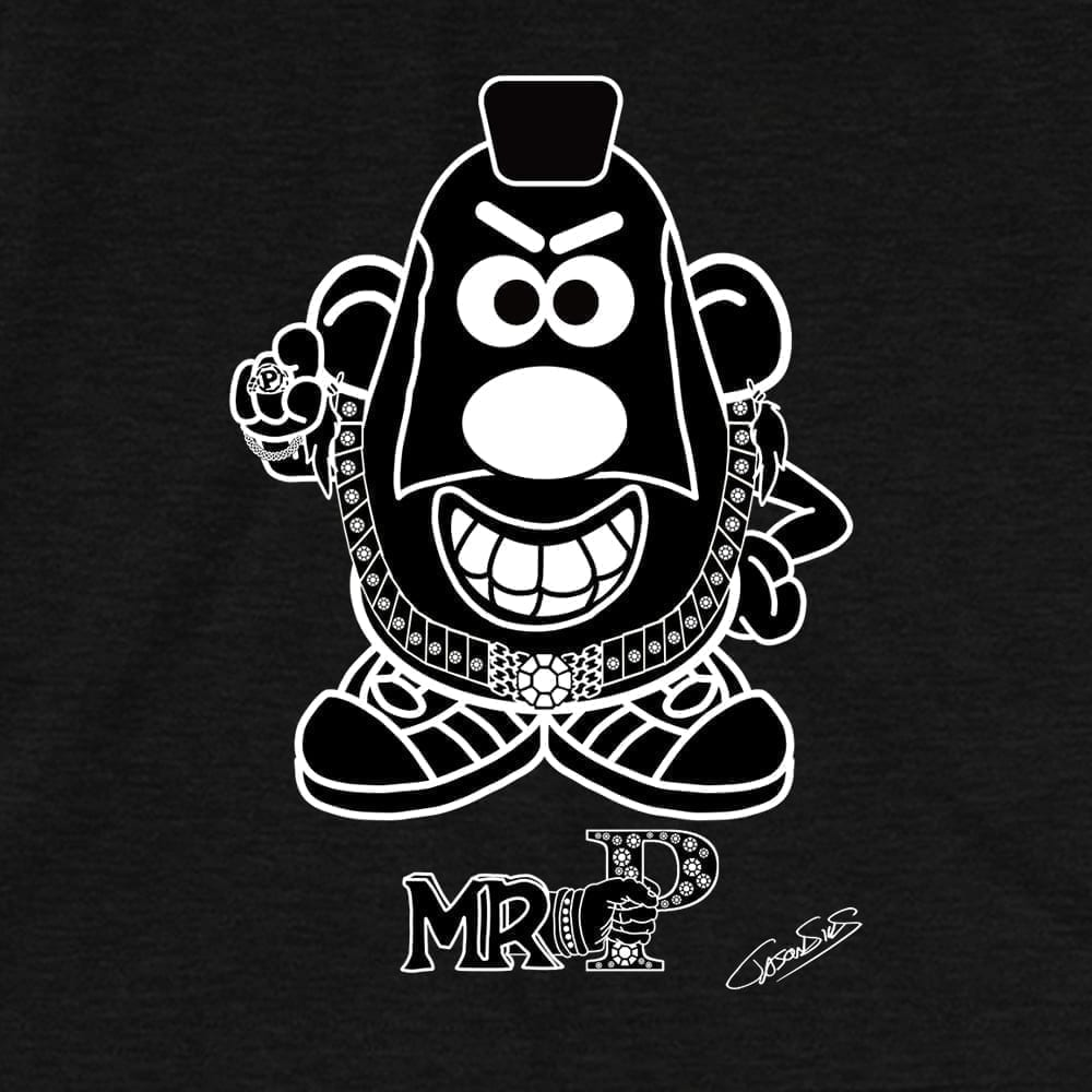 Mr. P (bw) • Women's Casual V-Neck T-Shirt