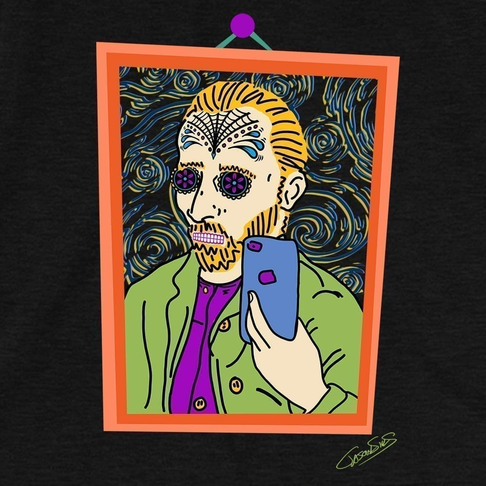 Vincent Selfie Muerto • Short-Sleeve Men's T-Shirt