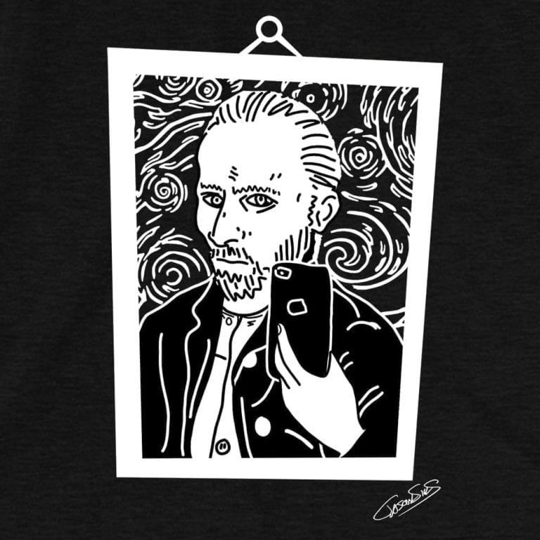 Vincent Selfie (bw) • Short-Sleeve Men's T-Shirt