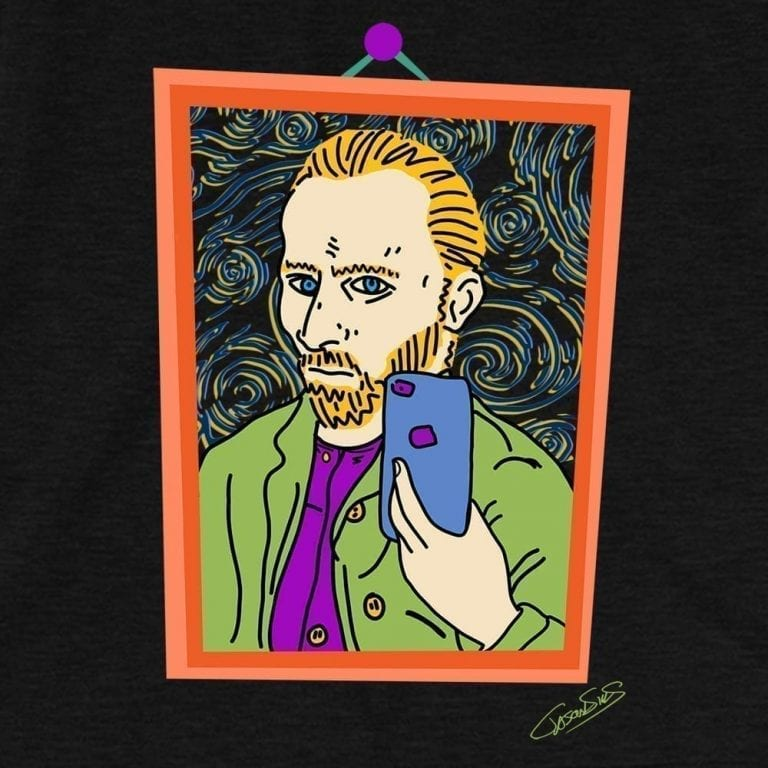 Vincent Selfie • Short-Sleeve Men's T-Shirt