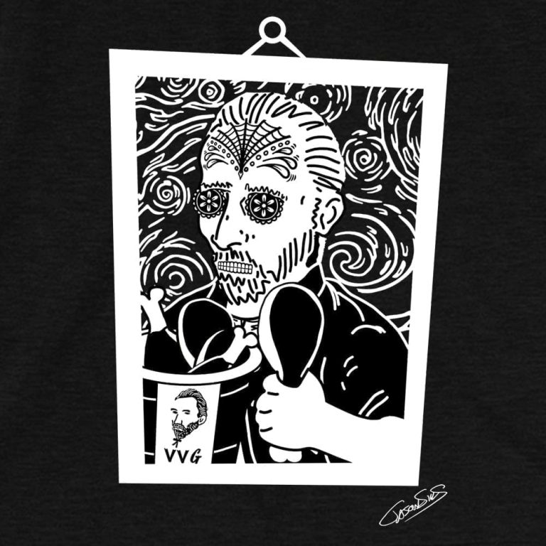 Vincent Extra Crispy Muerto (bw) • Short-Sleeve Men's T-Shirt
