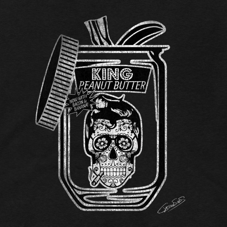 King Peanut Butter (bw) • Women's Casual V-Neck T-Shirt