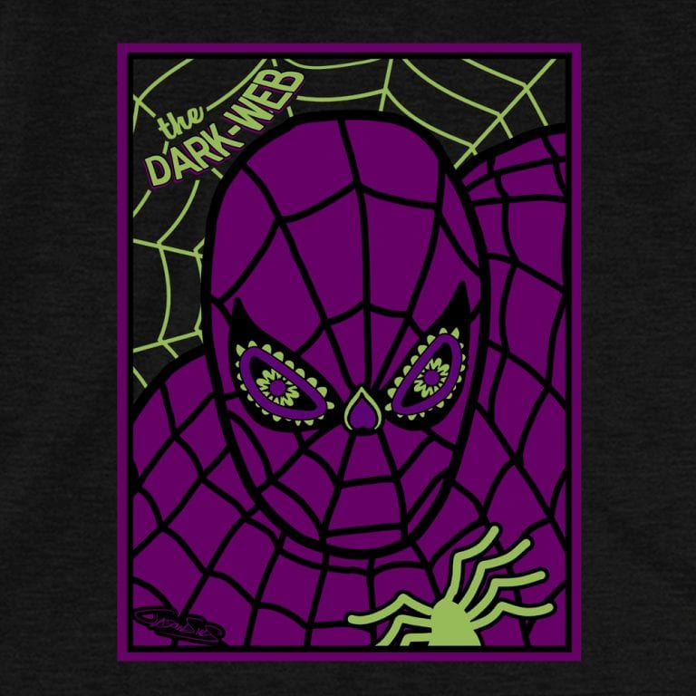 Dark Web • Women's Casual V-Neck T-Shirt