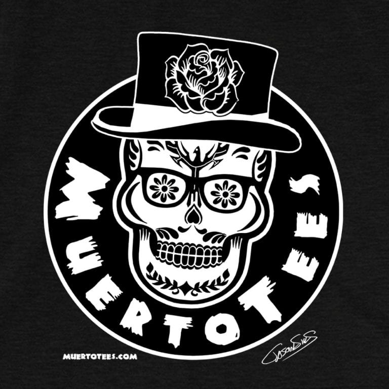 MuertoTees Logo (bw) • Women's Casual V-Neck T-Shirt