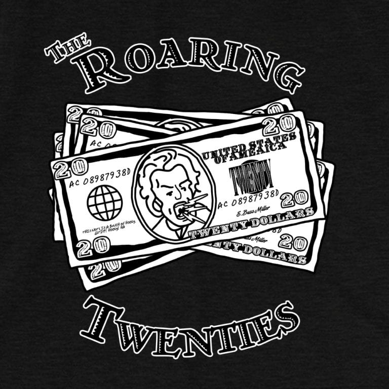 Roaring Twenties (bw) • Women's Casual V-Neck T-Shirt