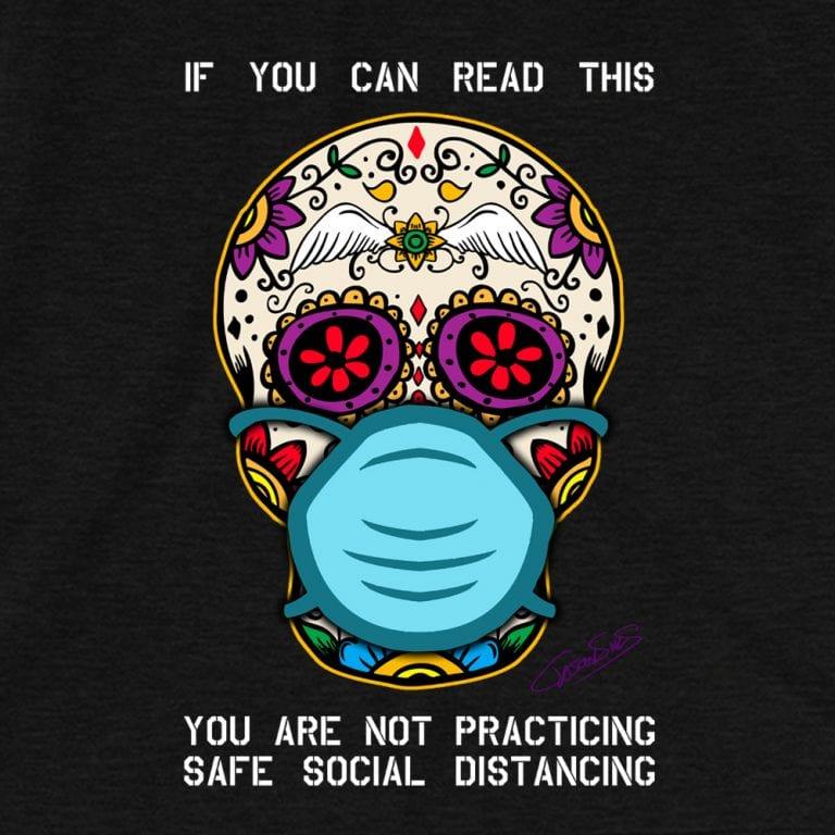 Safe Social Distancing • Short-Sleeve Men's T-Shirt