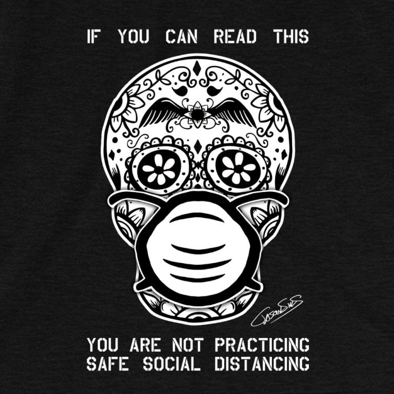 Safe Social Distancing (bw) • Short-Sleeve Men's T-Shirt