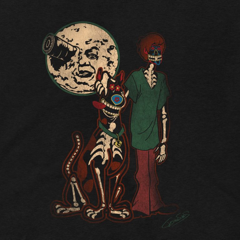 Under a Melies Moon • Women's Casual V-Neck T-Shirt